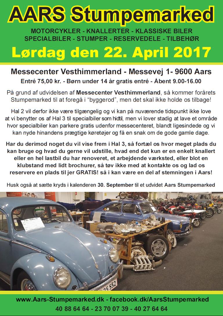 Aars Stumpemarked 22. April 2017 www.Aars-Stumpemarked.dk